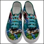 Net-Steals New, Women's Classic Low Top Novelty Sneakers - The Smurfs