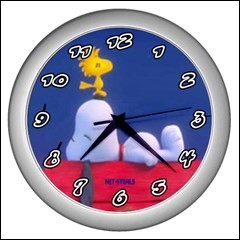 Net-Steals New, Wall Clock - Snoopy and Woodstock