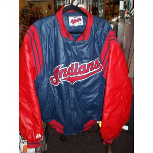 Vintage Authentic Diamond Collection Cleveland Indians baseball jacket